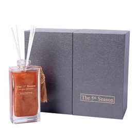 The 5th Season - 150ml Reed Diffuser Air Freshener in Gift Box with Artificial Flower - Gold (Englis