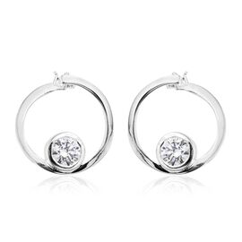 J Francis - Sterling Silver (Rnd) Earrings (with Clasp Lock) Made with SWAROVSKI ZIRCONIA