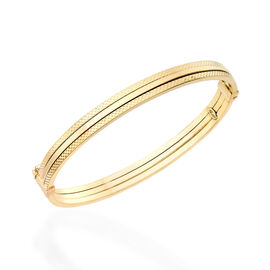 Close Out Deal - Italian Made 9K Y Gold Bangle (Size 7), Gold wt 7.10 Gms.