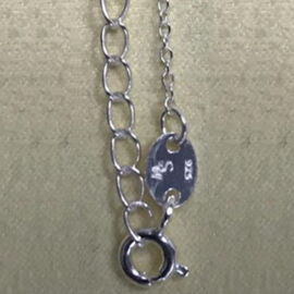 One Time Close Out Deal- Sterling Silver Necklace (Size 18)