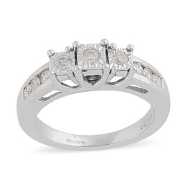 14K White Gold Natural White Diamond Ring 0.50 ct, Gold Wt. 5.40 Gms