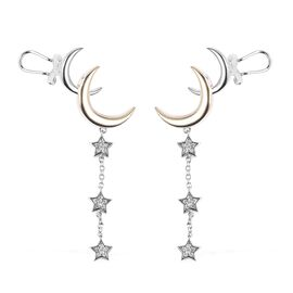 Isabella Liu - Twilight Collection - Natural Zircon Crescent Moon and Dangle Stars Earrings (with Pu