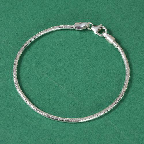 Sterling Silver Snake Chain Bracelet (Size 7.5), Silver wt. 8.22 Gms