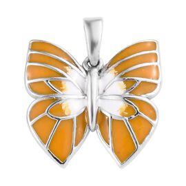 Platinum Overlay Sterling Silver Pendant