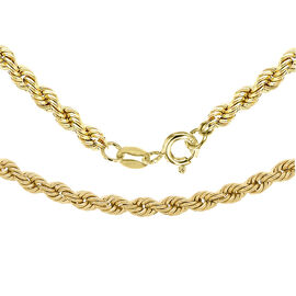 9K Yellow Gold Rope Chain (Size 24), Gold wt 3.30 Gms
