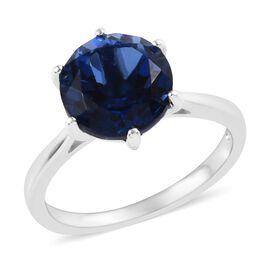 Minas Gerais Twilight Quartz (Rnd) Solitaire Ring (Size P) in Platinum Overlay Sterling Silver 3.25 Ct.