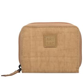 Artsac - Beige Colour Small Card and Notecase with Zip Closure (Size 120 x100 x20 mm)