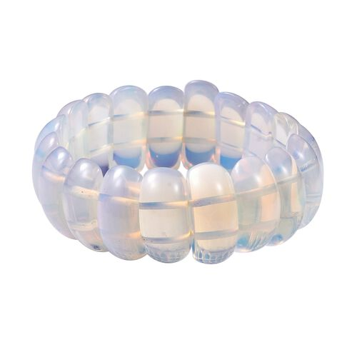 294 Carat Opalite Stretchable Beaded Bracelet 7 Inch
