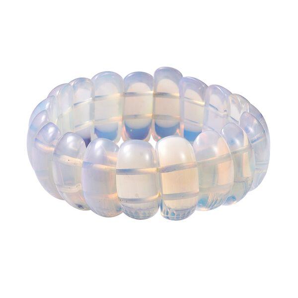 294 Carat Opalite Stretchable Beaded Bracelet 7 Inch