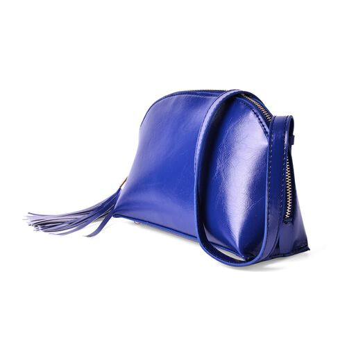 Blue Colour Crossbody Bag with External Pocket and Shoulder Strap (Size 21.5x14.5x8 m)
