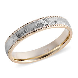 9K Yellow and White Gold Band Ring