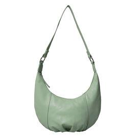 ASSOTS LONDON Luna Genuine Pebble Grain Leather Hobo Shoulder Bag - Mint Green