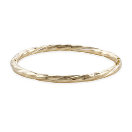 Royal Bali Collection 9K Yellow Gold Bangle (Size 7.5), Gold wt 8.73
