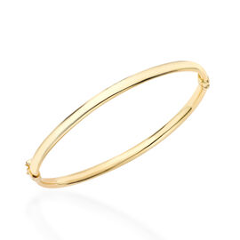 Limited Available- Italian Made 9K Yellow Gold Oval Bangle  Gold wt 4.00 Gms.