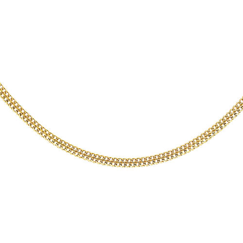 9K Yellow Gold Double Curb Chain (Size 18)