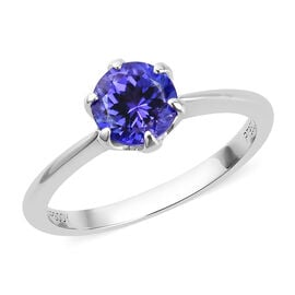 RHAPSODY 950 Platinum AAAA Tanzanite Solitaire Ring 1.00 Ct, Platinum wt. 3.00 Gms