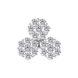 9K White Gold SGL CERTIFIED Diamond (Rnd) (I3/G-H) Pendant  0.250 Ct.
