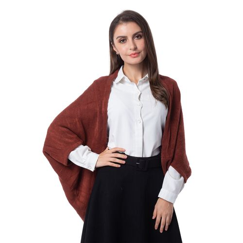 New For Season- Maroon Colour Shrug (Size 103x36 Cm)