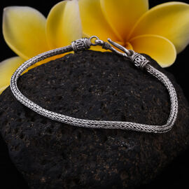 Royal Bali Collection Sterling Silver Tulang Naga Bracelet (Size 7.5), Silver wt. 8.12 Gms