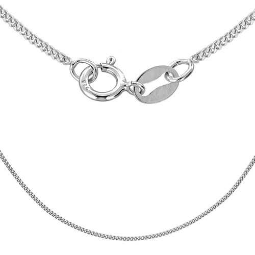 Sterling Silver Panza Curb Chain (Size 22)