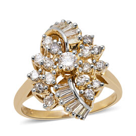 14K Yellow Gold (I1-I2/G-H) Diamond (Rnd) Ring 0.920 Ct, Gold wt 5.00 Gms.
