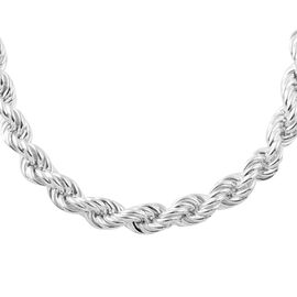 Italian Made Sterling Silver Rope Chain (Size 22), Silver wt 83.00 Gms