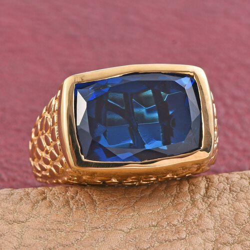 Ceylon Colour Quartz (Cush) Ring in 14K Gold Overlay Sterling Silver 11.500 Ct.