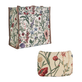 Signare Tapestry - Morning Garden Shopping Bag with FREE Zip Coin Purse