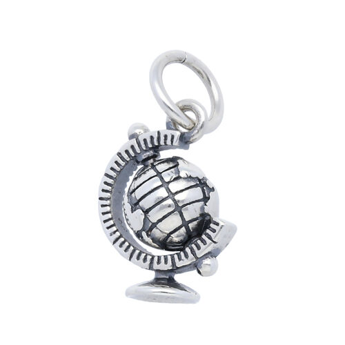 Sterling Silver Moving Globe Charm