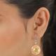 Pressed Flower Hook Earrings in Stainless Steel