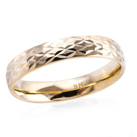 Royal Bali Diamond Cut Band Ring in 9K Gold 1.33 Grams