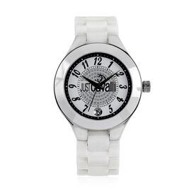 JUST CAVALLI: White Colour Ceramic Watch