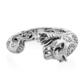 Bali Legacy Collection Sterling Silver Panther Head Bangle (Size 7.5), Silver wt 81.90 Gms