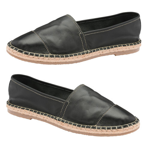 Ravel Bargo Leather Slip-On Shoes (Size 5) - Black