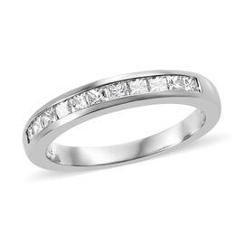 RHAPSODY 950 Platinum IGI Certified Diamond (Sqr) (VS/E-F) Half Eternity Band Ring 0.570 Ct.
