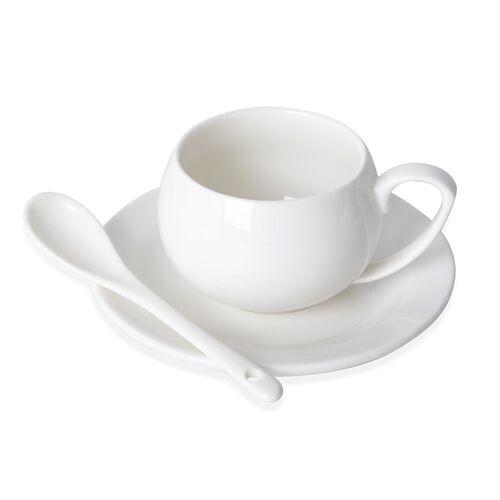 TEA FOR TWO- 7 Piece Set High Quality Porcelain (Consists 1 Tea Pot/ 2 Mugs/ 2 Saucers/ 2 Spoons)