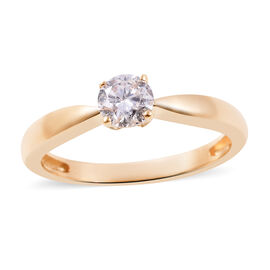 0.50 Ct Diamond Solitaire Ring in 14K Gold SGL Certified I1 I2 GH