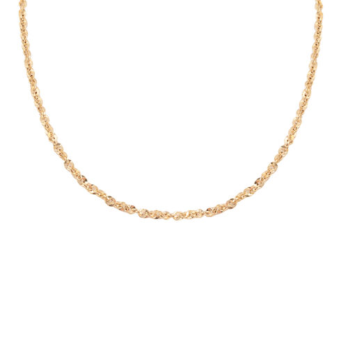 Made in Italy - 9K Yellow Gold Rope Necklace (Size 24) with Lobster Lock, Gold wt 5.60 Gms