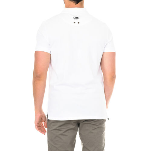 Karl Lagerfeld - Mens Basic Polo Short Sleeve - White Size S