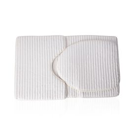 3 Pcs Bath Set - White Colour Bath Mats (Size 80x50 cm), Toilet Seat Cover (Size 47x40 cm) and Conto