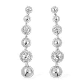 RACHEL GALLEY Drop Earrings in Rhodium Plated Sterling Silver 14.86 Grams