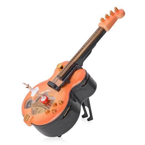 Guitar Music Box with Multi Colour  (Size 28x11.5x9 Cm)