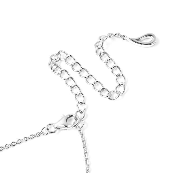 LucyQ TJC Exclusive Open Drip Rhodium Overlay Sterling Silver Necklace (Size 28 with 4 inch Extender), Silver wt 27.00 Gms