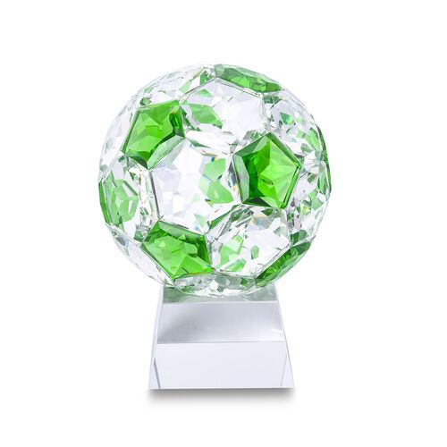 Collectors Edition - Crystal Football with Base (Size 7x14 Cm) - Emerald Green Colour