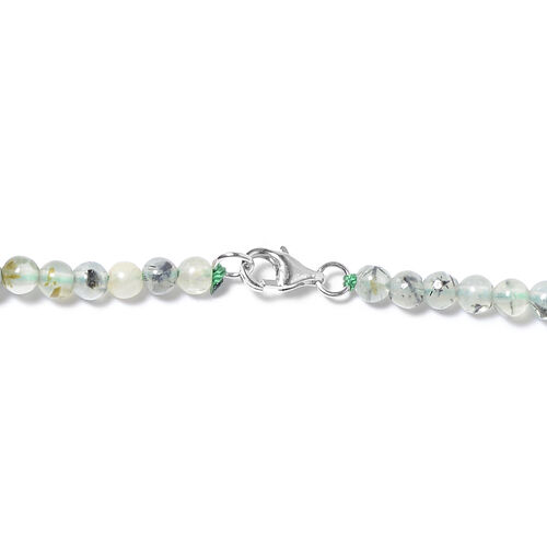 One Time Only - Antarctic Prehnite Graduated Necklace (Size 18) in Rhodium Overlay Sterling Silver 116.00 Ct.