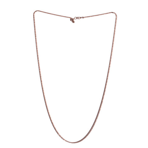 Vicenza Collection - Rose Gold Overlay Sterling Silver Adjustable Chain (Size 24), Silver wt 4.60 Gms.