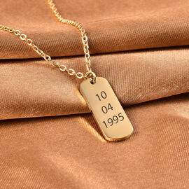 Personalise Engravable Dog Tag Necklace, Size 18+2 Inch, Stainless Steel