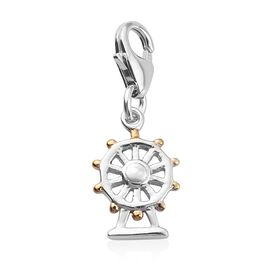 Charms De Memoire Platinum and Yellow Gold Overlay Sterling Silver London Eye Charm