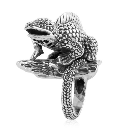 Royal Bali Collection Sterling Silver Komodo Dragon Ring, Silver wt 30.98 Gms.