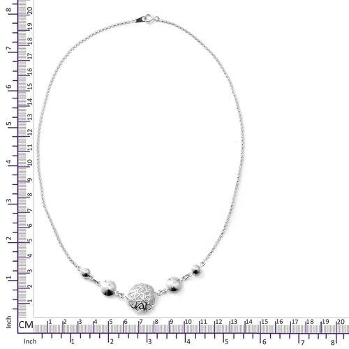 Designer Inspired - Sterling Silver Necklace (Size 20), Silver wt 8.50 Gms.